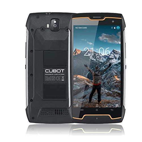 cubot king kong rugged smartphone ip68, antipolvere, antiurto, display 5 pollici, 4400mah batteria, dual sim, android 7, 2gb ram +16gb rom, outdoor cellulare