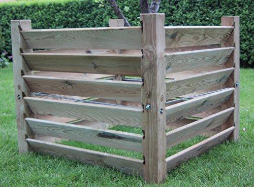 Komposter Brettkomposter aus Holz 100x100x80 cm - ca. 800 L