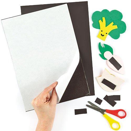 Selbstklebende A4 Magnet-Blätter - für Kinder zum Basteln - als Dekoration - 2 Stück