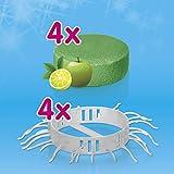Abfluss-Fee für die Dusche (Haarfänger und Duftstein) (4X Duftstein Apfel-Zitrone & 4X Haarfänger)