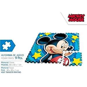 Desconocido Kids- Alfombra Puzzle Mickey, 90 x 90 cm (WD17628)