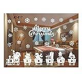 QTZJYLW Weihnachtsfensteraufkleber Wandaufkleber Weihnachtsschneemann-Dekorationen Jahr-Aufkleber