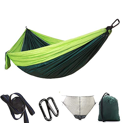 YLOVOW Freistehendes Moskitonetz, Camping-Hängematte, Doppel-Fallschirm-Hängematte, Best Camping Accessories Gear,270 * 140cm,4