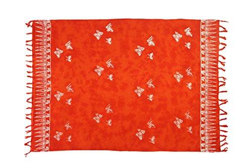 Exclusiv Originale Handarbeit von Ciffre Sarong - Große Auswahl hochwertiger Strandtücher aus Bali Indonesien - Viele Farbe - Pareo Designy by EL-Vertriebs GmbH SJ4 Schmetterling