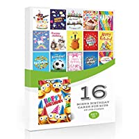 16 x Kids Mixed Birthday Cards by Olivia SamuelTM - Multipack with Envelopes - Set 1