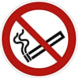 Schild Rauchen verboten gemäß ASR A1.3 / DIN 7010, Alu 20 cm Ø | Rauchverbot | Verbotsschild | Rauchen nicht erlaubt | wetterfest