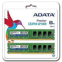 ADATA Premier DDR4 2133MHz 8GB (4GBx2) Memory Modules (AD4U2133W4G15-2)