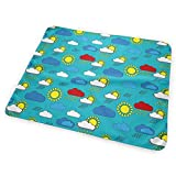 Bauhaus Sun And Rain Washable Incontinence Pad Baby Changing Pad Pet Mat Large Size 25.5 x 31.5 inch (65x80 cm)
