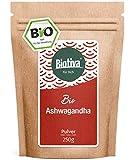 Ashwagandha Pulver Bio 250g - Ashwagandawurzel-Pulver - Schlafbeere - Ayurveda - indischer Ginseng - Withania Somnifera - abgefüllt in Deutschland (DE-ÖKO-005) - vegan