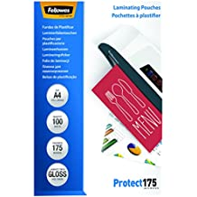 Fellowes 53087 Laminierfolien Protect 175 Mikron, DIN A4 (100er Pack)
