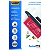 Fellowes 5308703 Protect 175 microns A4 pochettes de plastification brillantes - Pack...