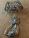 Cat scarf ring pendant
