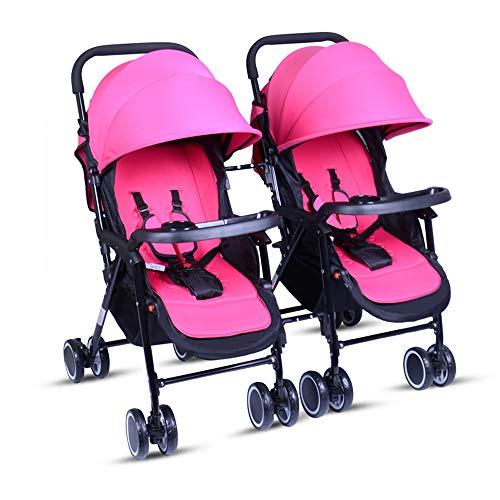 Twin Trittbrett (Unbekannt Tragbare Twin Baby-Zwillinge können sitzen und Sich zurücklehnen. Leichter, zusammenklappbarer, Abnehmbarer, ultraleichter Stoßdämpferwagen,E)