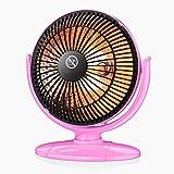 ZZHF Riscaldatore, Stufa per Studenti Piccoli a Basso consumo Riscaldatore a Bassa Potenza 200W Bianco/Rosa radiatore (Colore : Pink)