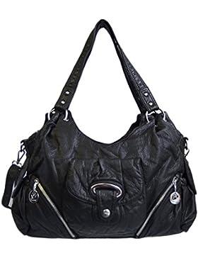 Kumixi Damentasche Schultertasche Lederoptik AK077-1