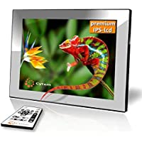 Cytem Diamine 8I IPS Silver Digital Photo Frame 20.3cm (8Inch 4: 3Format, IPS Screen; Echte Random–Folder Dia Display; Supports Min. 10,000Pictures, HD Video Playback, Easy to Use