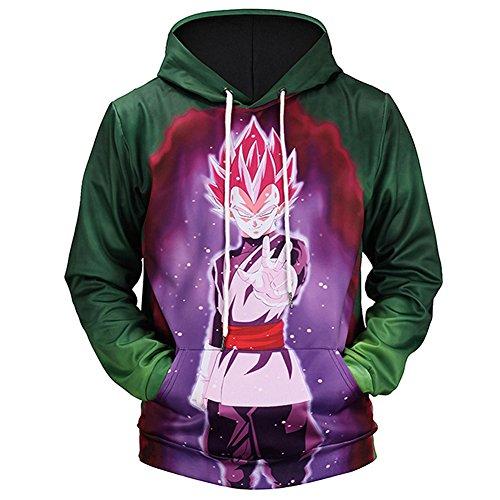 PIZZ ANNU Männer Dragon Ball Series Langarm Pullover Hoodie Sweatshirt 04