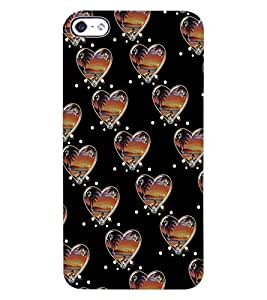 ColourCraft Love Hearts Design Back Case Cover for APPLE IPHONE 4S