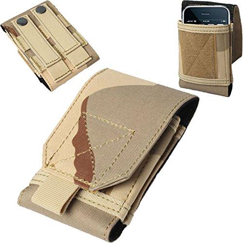 Universal Army Military Wandern Tactical Camo Tasche Schutzhülle Beutel Gürtelschlaufe Haken Holster für Apple iPod Touch 33. GEN, 44. Gen, 5. Gen, 6. Generation und Asus Zenfone 4-Camouflage Khaki