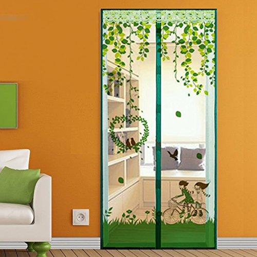 Preisvergleich Produktbild Sommer - moskitonetz Fliegengitter für Fenster, schlafzimmer einfache verschlüsselung Klett die Tür - Netz-C-140x220cm(55x87inch)