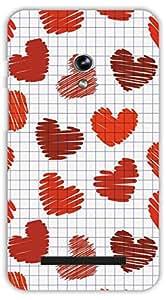 Crazy Beta LOVE SYMBOL DESIGN Printed Back Cover For Asus Zenfone 5