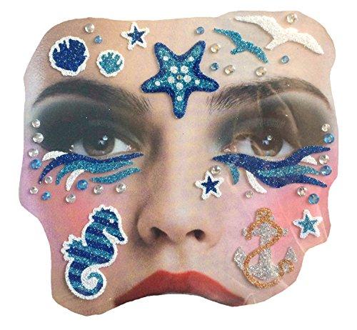 Gesichts Tattoo Face Art Halloween Karneval Marine - Marine-gesicht