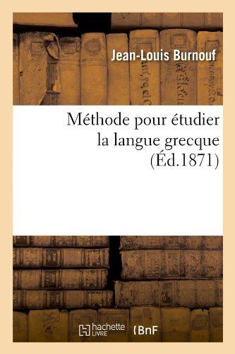 Méthode pour étudier la langue grecque (Éd.1871)