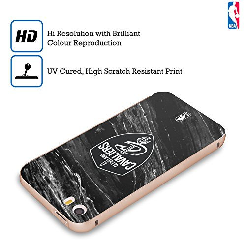 Ufficiale NBA Marmo B&N Cleveland Cavaliers Oro Cover Contorno con Bumper in Alluminio per Apple iPhone 5 / 5s / SE Marmo B&N