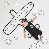 #5: Babymoon Milestone Aeroplane Flying High Designer Growth Baby Photography Props- Photo Blanket - Photoshoot Bedsheet - Best Baby Shower Gift