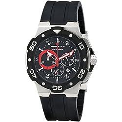 MOMO Design MD1004BK-01BKRD-RB - Reloj de pulsera hombre, Caucho, color Negro