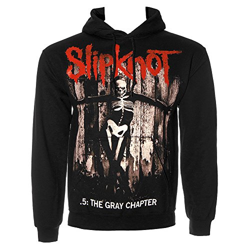Slipknot Gray Chapter Felpa Con Con Cappuccio (Nero) - X-Large