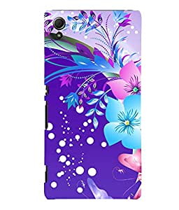 printtech Floral Pattern Back Case Cover for Sony Xperia Z4::Sony Xperia Z4 E6553