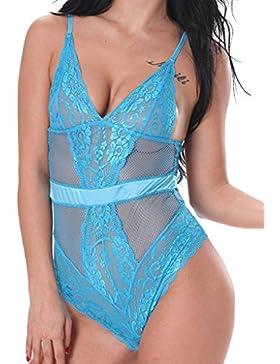[Patrocinado]Vilania Lencería Mujer Ropa Interior Pijama Babydoll Teddy Open Crotch Bragas