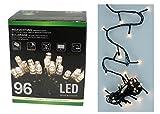 2x LED Lichterkette 96 LEDs warmweiß Batterie Timer Weihnachten innen außen