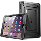 Supcase Unicorn Beetle Pro Series Full-Body Rugged Hybrid Protective Case with Built-in Screen Protector for Apple iPad Air 2, Black/Black