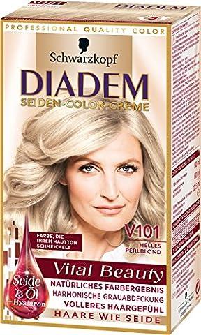 Diadem Seiden-Color-Creme V101 Helles Perlblond Vital Beauty, 3er Pack (3 x 142 ml)
