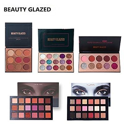 Beauty Glazed Smokey Eyeshadow Palette Matte Pigment Glitter Shimmer Makeup Contour Metallic Eyeshadow Palette by Beauty Glzaed
