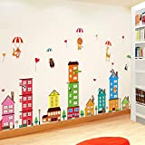 HKJNDS Nurseries Mur Culturelle Classe Décoration Murale De La Chambre Des Enfants Affiche Papier Peint Autocollant Papier Autocollants Muraux Auto-Adhésif...