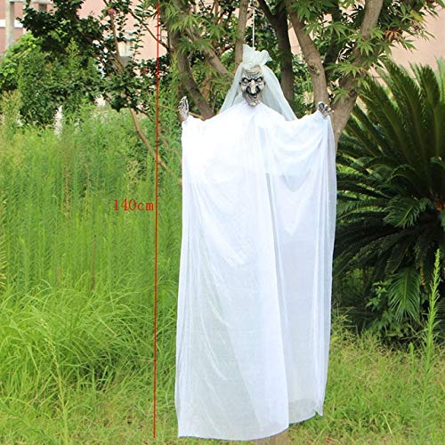 Kostüm Monster Braut Weiße - WSJDE Bräutigam Braut Schädel Scary Hanging Halloween Dekoration Halloween Horror Ghost Scary Requisiten Sprachsteuerung Halloween RequisitenWeiß