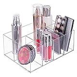mDesign Organizer per cosmetici ? Box a 5 scomparti per riordinare trucchi, flaconi e altri accessori da bagno ? trasparente