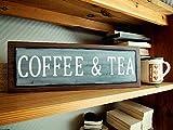 Eyrrme Augenbraue, 14 x 40 cm, Größe größer Kaffee und Tee Schild, Coffee Bar Schild, Küchenschild, Coffee Station Schild, handbemalt Schild, Kaffee Dekor 840458