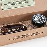 Captain Fawcett's - Juego de Cera para Bigotes (Fragancia a Sándalo) & Peine de Bigote de Bolsillo (CF.87T) - Fabricado en Inglaterra