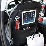Auto Rücksitz Organizer-1 Pack, Feavor Auto Organizer Rückenlehne Tasche, Rückenprotektor mit Kickback Organizer, Rücksitz Rückenprotektor, Kick Mat Protector für Autositz mit extra großen IPad.