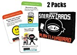 Sneaky Cards Card Game Value Bundle With Smartphone Screen Cleaner by Gamewright