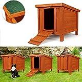 IDMarket - Clapier pour lapins et rongeurs en bois avec porte