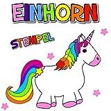 German Trendseller® - 6 x Magische Einhorn Stempel ┃ NEU ┃ Regenbogen ┃ Multicolor ┃ Mitgebsel ┃ Kindergeburtstag ┃ 6 Stück -