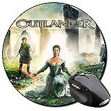 Outlander Sam Heughan Caitriona Balfe C Mauspad Round Mousepad PC