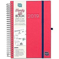 Boxclever Press Family Life Book agenda famiglia 2019. Agenda familiare A5 a 7 colonne. Planner settimanale, inizia ora e dura fino a Dicembre 2019