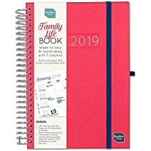 Boxclever Press 2019 Family Life Book Diary. Week-to-View A5 Diary with Columns for up to 7 People, Designed to Manage Busy Families. Start Now and use Until December 2019.