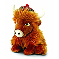 Keel Toys 25 cm Highland Cow with Tartan Hat